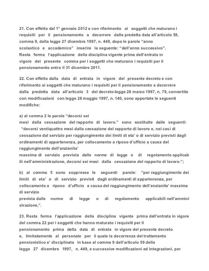 Decreto legge 13 agosto 2011 for Aggiunte di legge