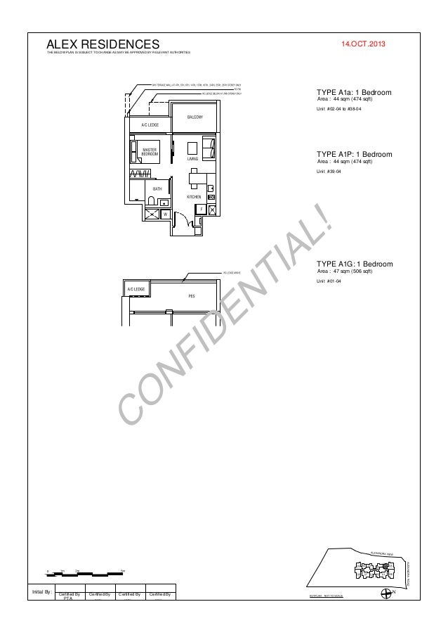 ALEX RESIDENCES  14.OCT.2013  THE BELOW PLAN IS SUBJECT TO CHANGE AS MAY BE APPROVED BY RELEVANT AUTHORITIES  TYPE A1a: 1 ...