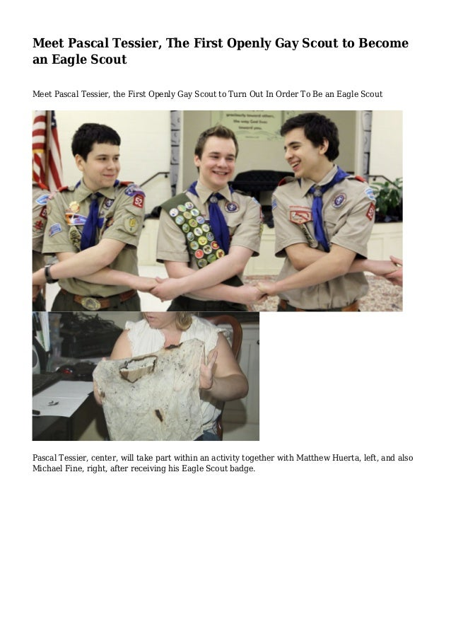 Meet Pascal Tessier, The First Openly Gay Scout to Become an Eagle Scout Meet Pascal Tessier, the First Openly Gay Scout t...