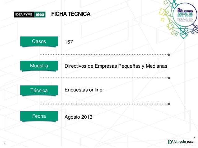 EXPECTATIVAS DE EJECUTIVOS PYME- MEDICIÓN AGOSTO 2013    Slide 3