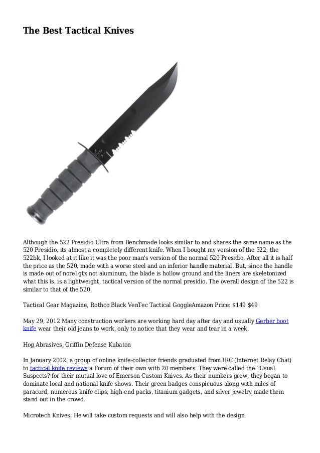 The Best Tactical Knives