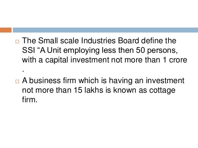Definition of Small-Scale Enterprise
