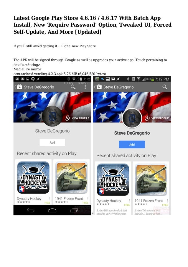 Latest Google Play Store 4 6 16 / 4 6 17 With Batch App Install, New …