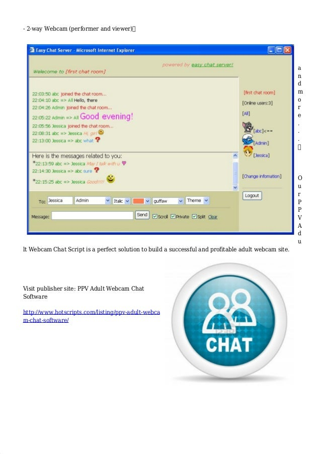 Adult web chat room