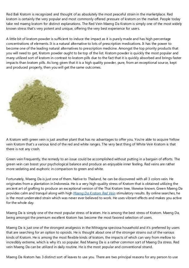 10 Fundamentals About Kratom Maeng Da Red You Didn T Learn In School