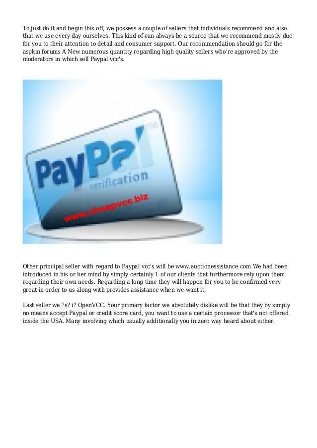 Best Places & Most Legitimate Sites To Buy A Paypal VCC? Slide 2
