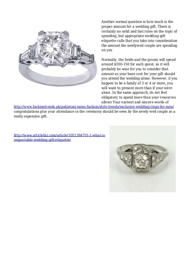 Marriage What Is Respectable Wedding Gift Etiquette