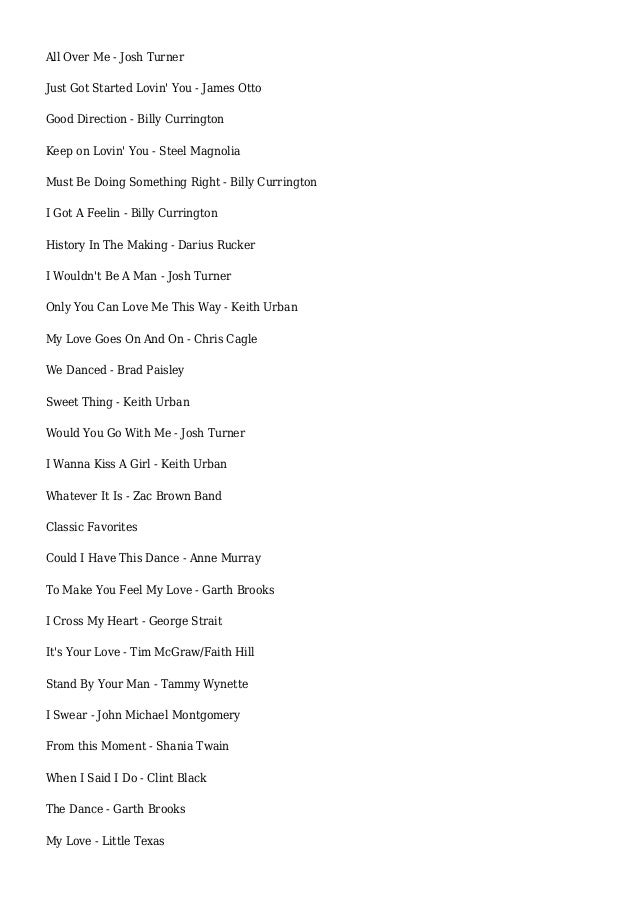 2014 Country Wedding Songs - Yahoo Voices