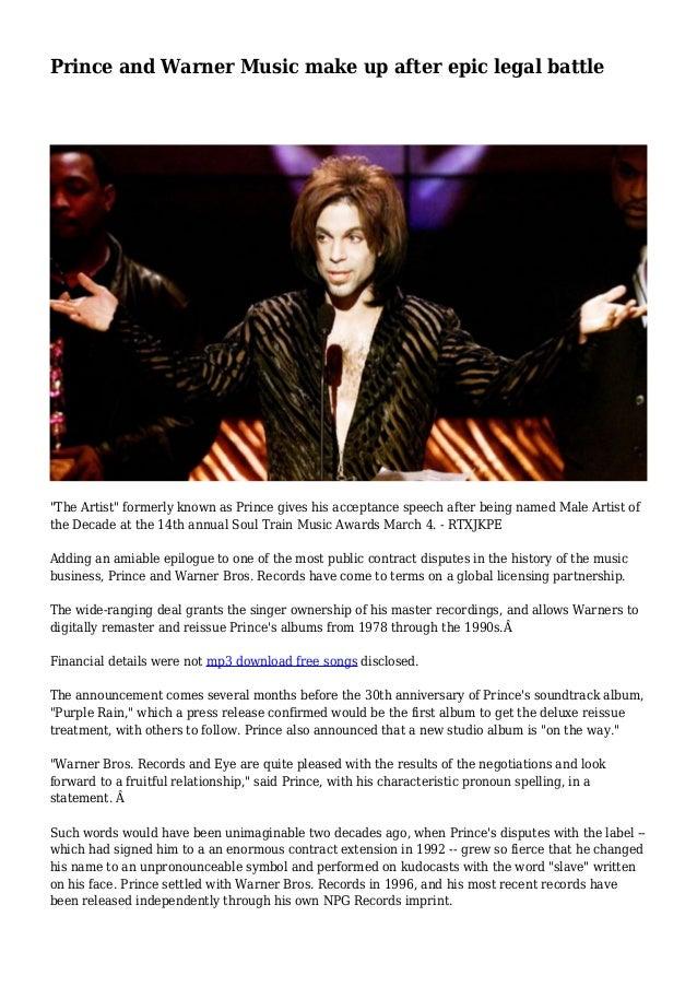 Prince and Warner Music make up after epic legal battle