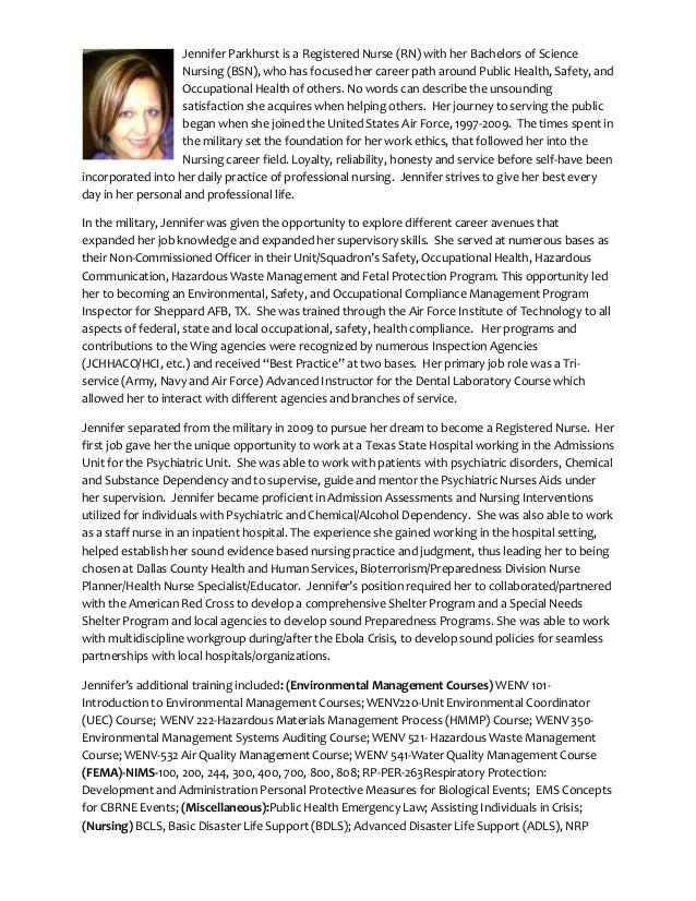 parkhurst jennifer professional biography pdf