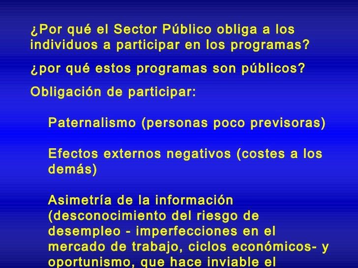 ¿Por qué el Sector Público obliga a losindividuos a participar en los programas?¿por qué estos programas son públicos?Obli...