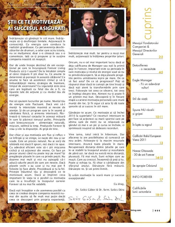 Revista Forever Noiembrie 2010 Slide 3