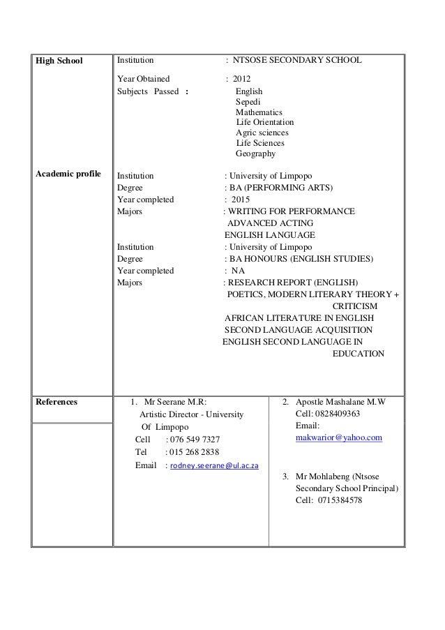 COMPLETE CV