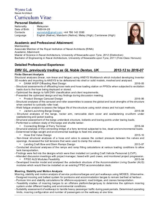 Naval Architect Resume Images - free resume templates word download