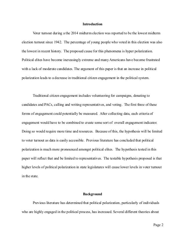 an essay on the polarization in the political system Free essay: extreme political polarization the political climate today is increasingly becoming more turbulent as republicans and democrats volley for.