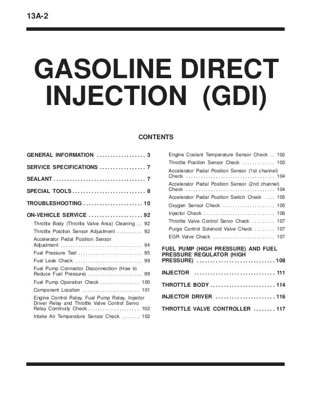 13 a gasoline direct injection (gdi)