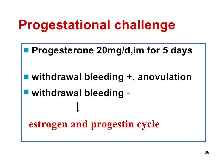 Medroxyprogesterone And Withdrawal Bleeding