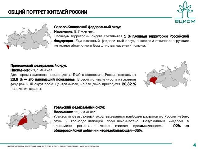 44 Северо-Кавказский федеральный округ. Население: 9,7 млн чел. Площадь территории округа составляет 1 % площади территори...