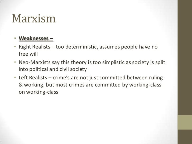 strengths and weaknesses of marxism Marxism and contemporary click here for the december 2013 edition of discover society which contains very useful information possible weaknesses of marxist.