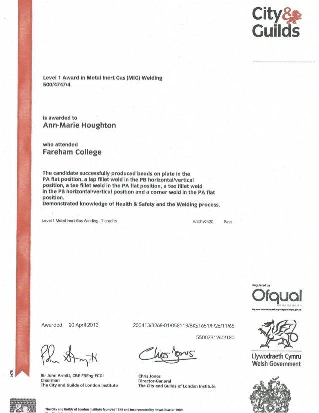 Mig Welding Certificate