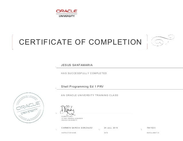 certificate JS Oracle Shell