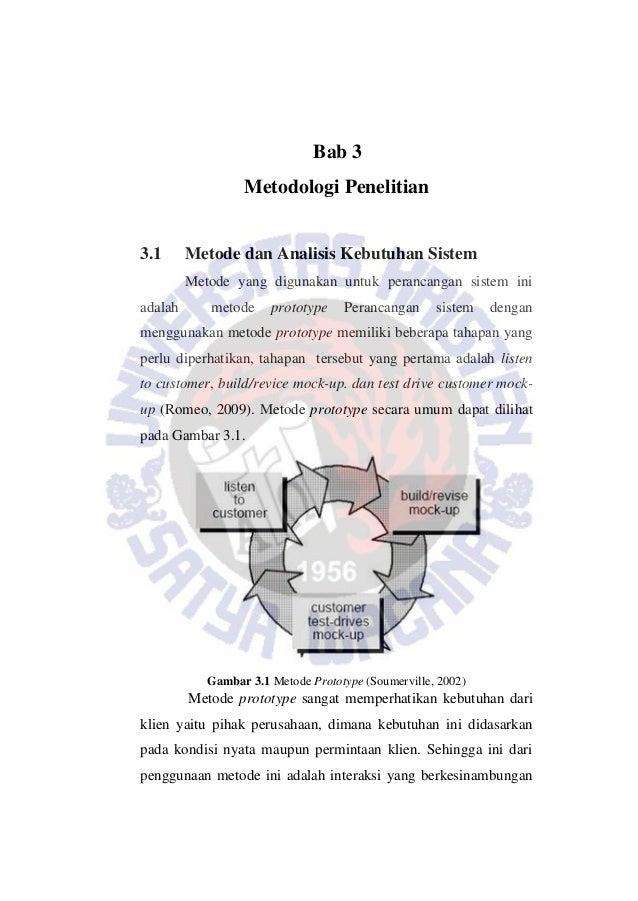 Bab 3 Metodologi Penelitian 3.1 Metode dan Analisis Kebutuhan Sistem Metode yang digunakan untuk perancangan sistem ini ad...