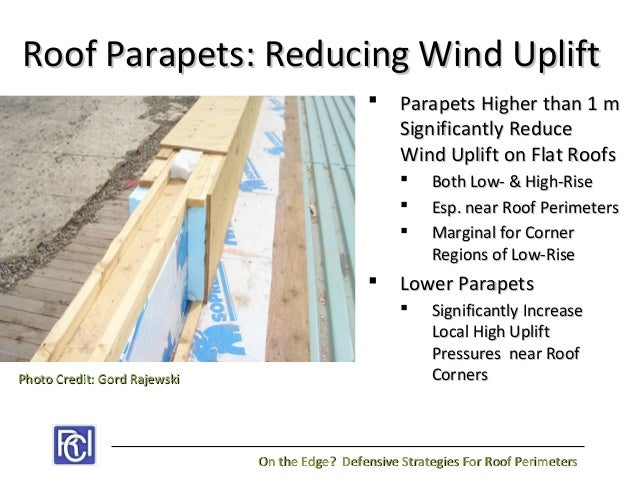 On the edge defensive strategies for roof perimeters for Parapet roof design pictures
