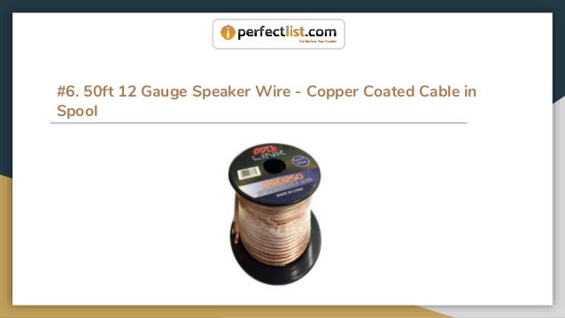 13 best speaker wires in 2018 product reviews