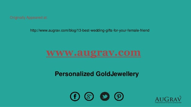 13 best wedding gifts for your female friend take your pick 17 junglespirit Choice Image