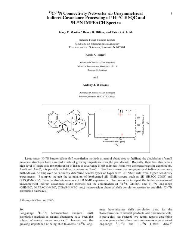 13                            C-15N Connectivity Networks via Unsymmetrical                                               ...