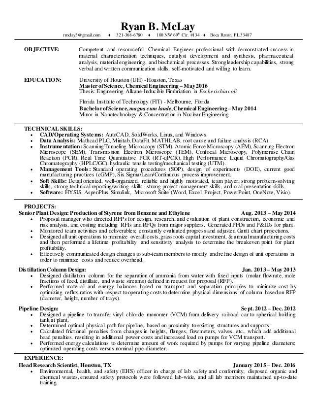 1-11-2017 Resume - McLay, Ryan