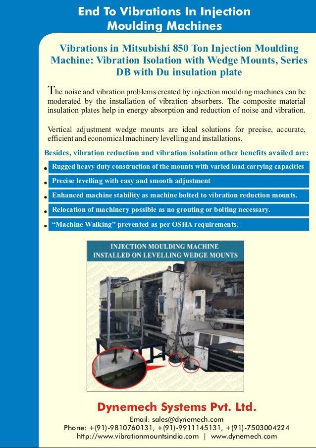 case study mitsubishi injection moulding machine on machine mounts