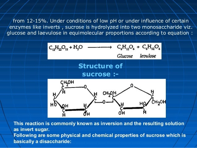 Physical Properties Of Sucrose