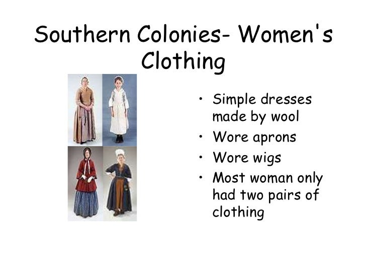 Southern Colonies Mens Clothing