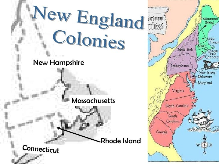 Map Of The 4 New England Colonies.13 Colonies Map And Regional Differences