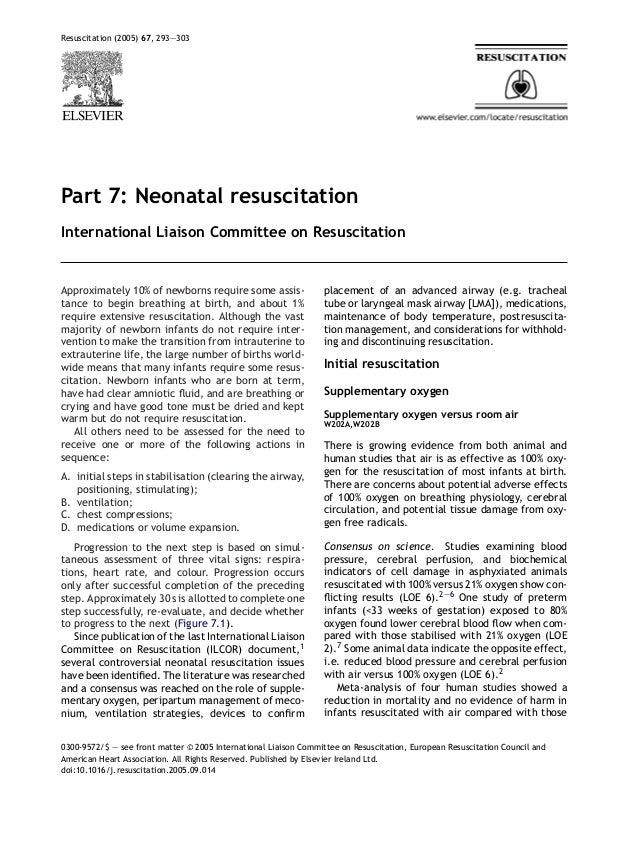 Resuscitation (2005) 67, 293—303Part 7: Neonatal resuscitationInternational Liaison Committee on ResuscitationApproximatel...