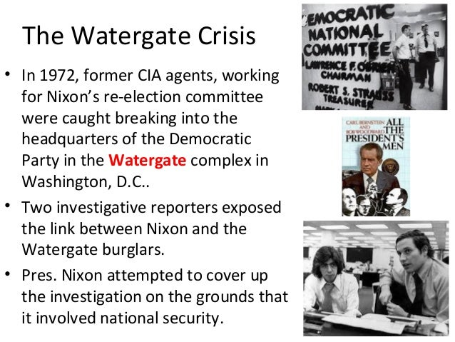 an analysis of the watergate crisis essay Watergate may be the most famous story in american investigative journalism history it led to impeachment hearings, president nixon's resignation from office, and a spate of new political ethics laws.