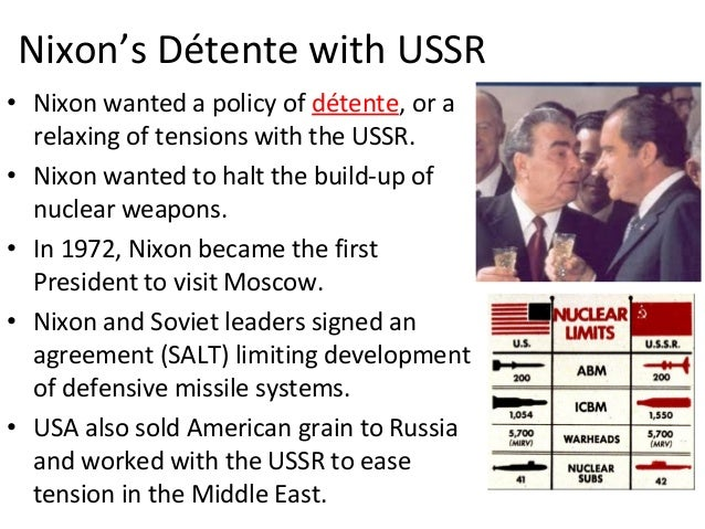 Examples Of Detente 1which Policy Or Action Was An Example Of D