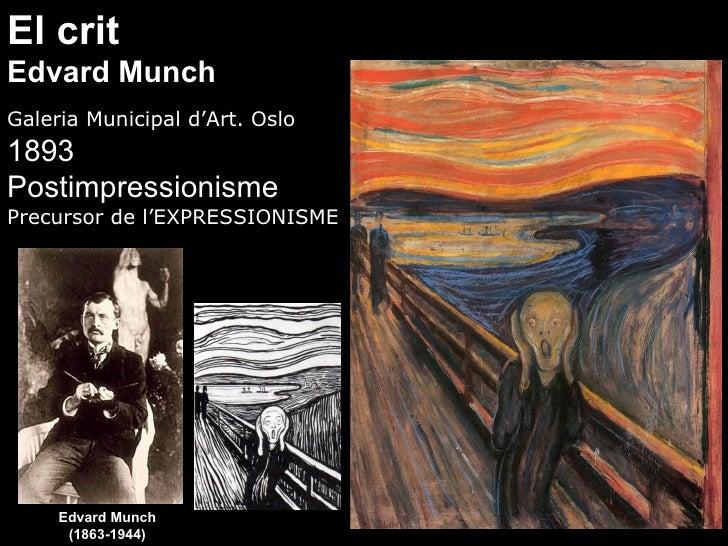 El crit Edvard Munch Galeria Municipal d'Art. Oslo 1893 Postimpressionisme Precursor de l'EXPRESSIONISME          Edvard M...