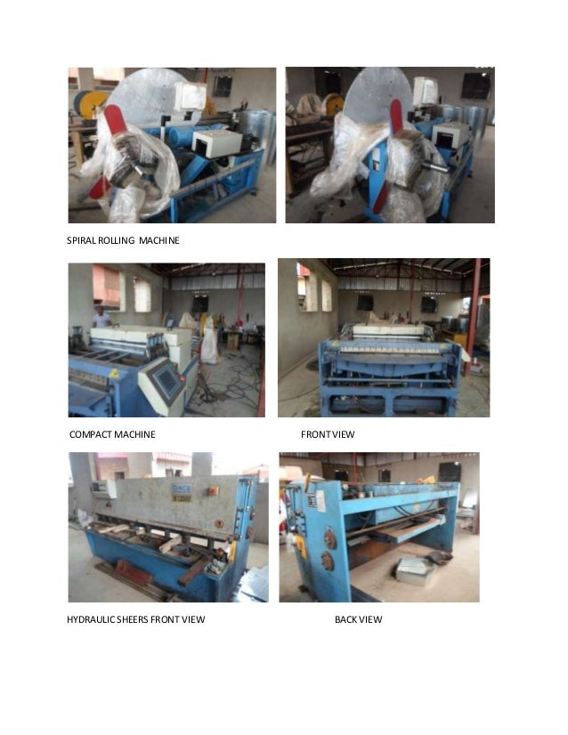 SPIRALROLLING MACHINE COMPACT MACHINE FRONTVIEW HYDRAULIC SHEERS FRONT VIEW BACKVIEW