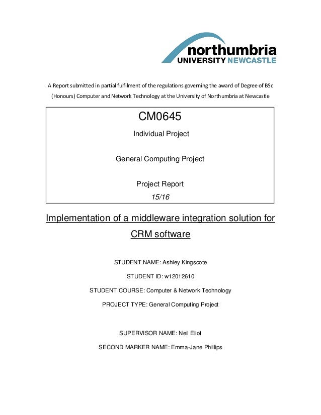 A Report submitted in partial fulfilment of the regulations governing the award of Degree of BSc (Honours) Computer and Ne...