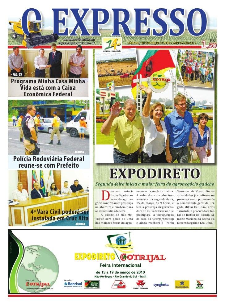 o ExprESSo         oexpresso@gmail.com                        expresso@comnet.com.br                           SÁBADO, 13 ...