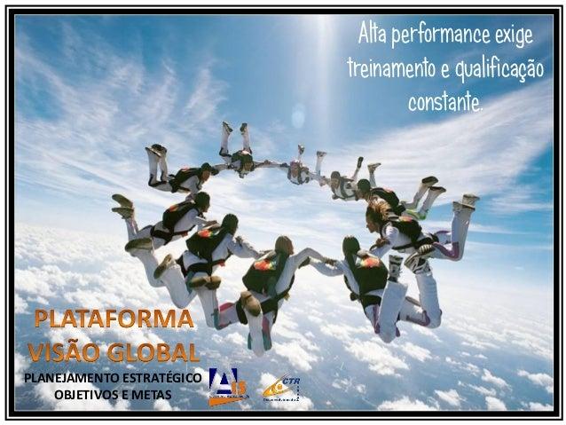 PLANEJAMENTO ESTRATÉGICOOBJETIVOS E METASAlta performance exigetreinamento e qualificaçãoconstante.