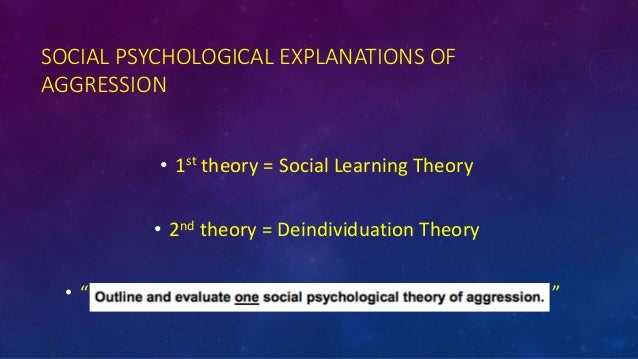 social learning theory of aggression pdf