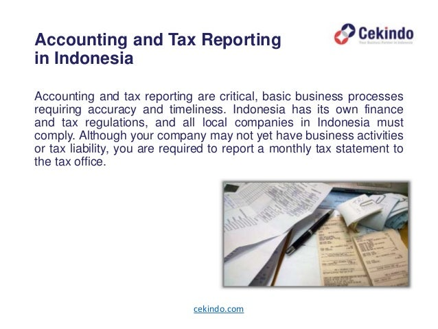 Doing Business in Indonesia: Accounting and Tax Reporting
