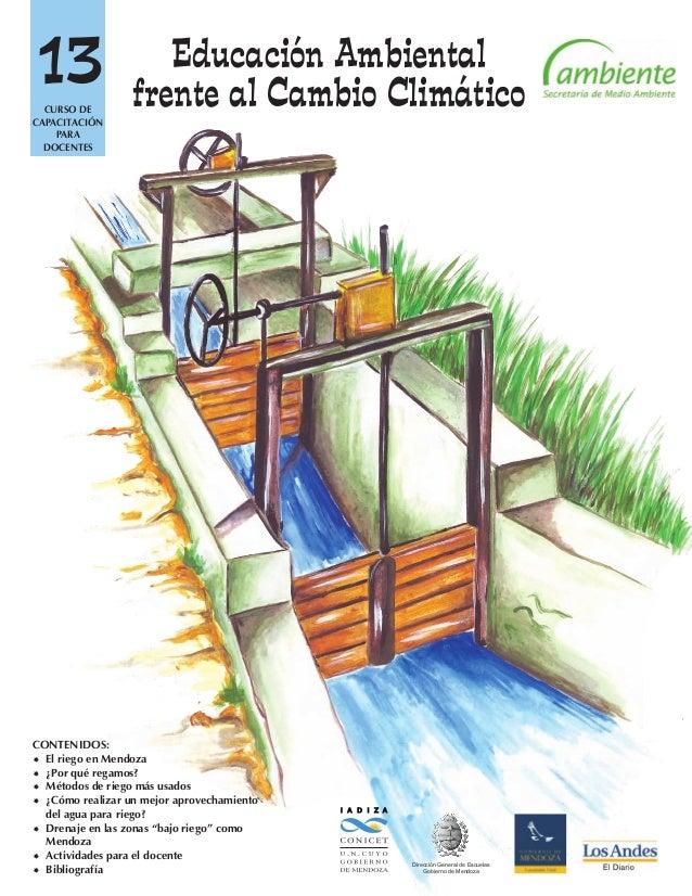 13 I A D I Z A Dirección General de Escuelas Gobierno de Mendoza CONTENIDOS: El riego en Mendoza ¿Por qué regamos? Méto...
