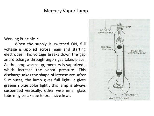 Mercury Vapor Lamp; 42.
