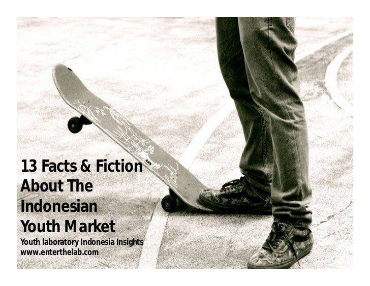 13 Facts & FictionAbout TheIndonesianYouth MarketYouth laboratory Indonesia Insightswww.enterthelab.com