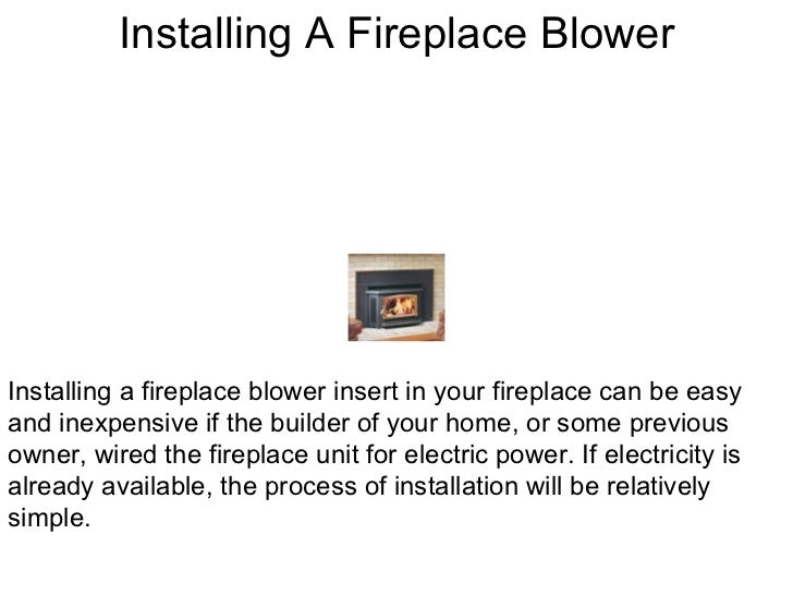 heat your home with a fireplace blower