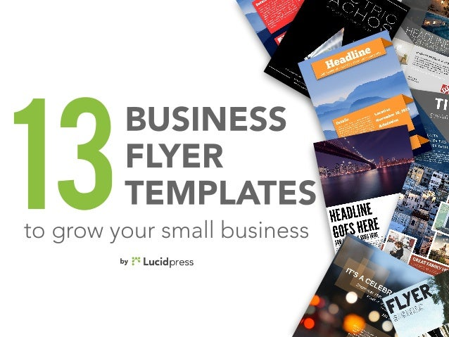 13 best business flyers to grow your small business business flyer templates13to grow your small business wajeb Choice Image